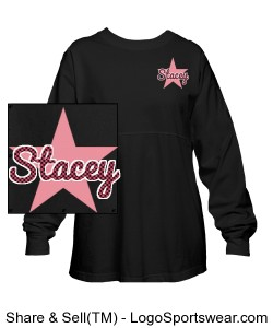 Twinkle World Spirit Jersey- Black Design Zoom